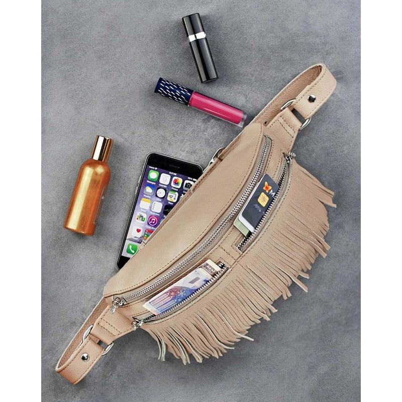 Сумка женская Lumbar bag cream leather