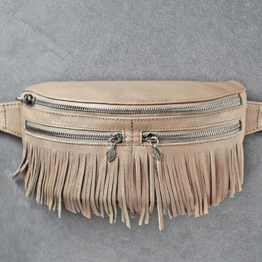 Сумка жіноча Lumbar bag cream leather