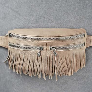 Сумка жіноча Lumbar bag cream leather