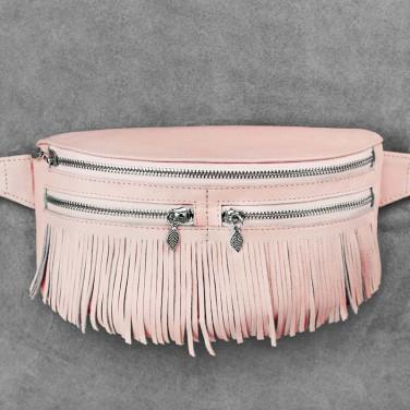 Сумка жіноча Lumbar bag pink leather