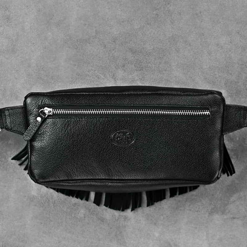Сумка жіноча Lumbar bag black leather