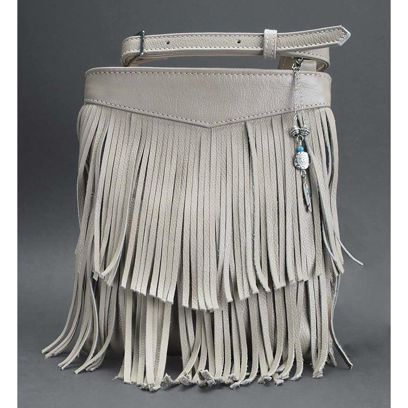 Кожаная сумка женская Cross-body bag cream leather