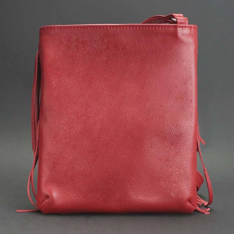 Шкіряна сумка жіноча Cross-body bag red leather