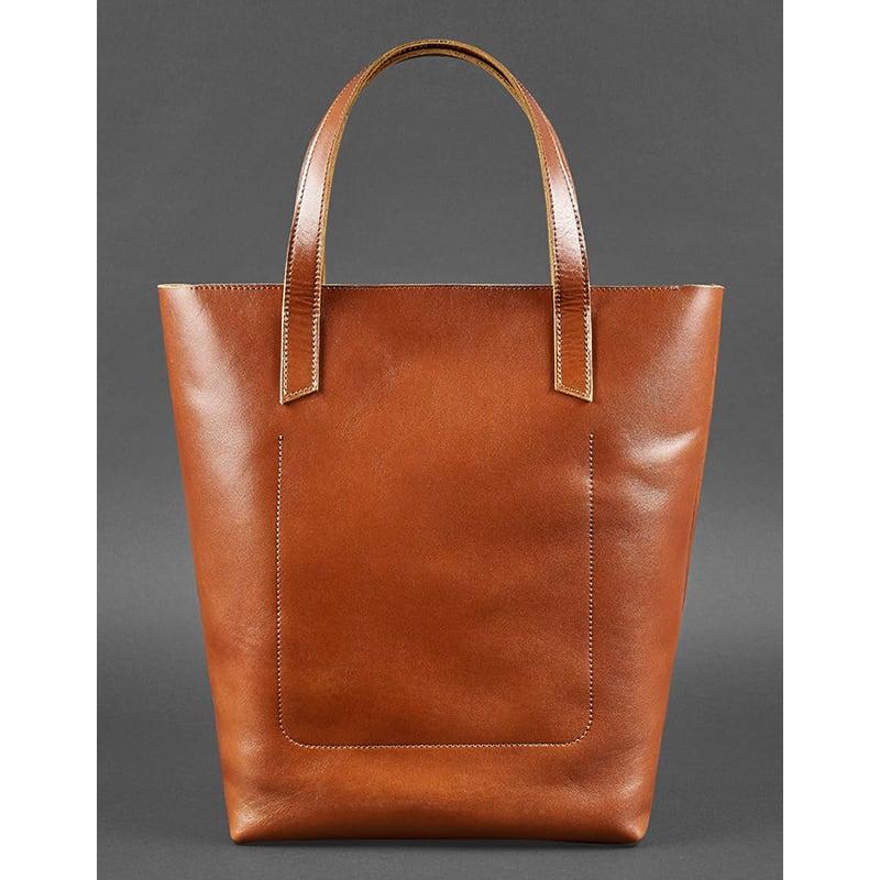 Сумка женская кожаная Shopper brown leather