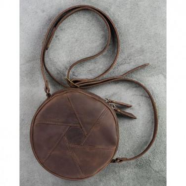 Шкіряна сумка жіноча Hat box brown leather