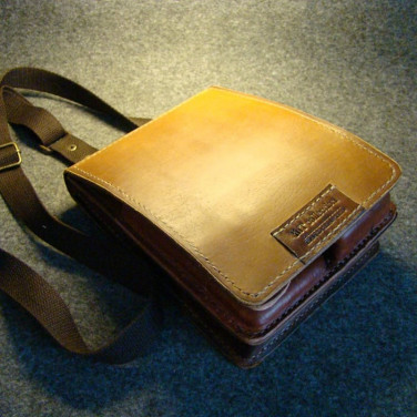 Сумка чоловіча шкіряна Baguette bag brown leather