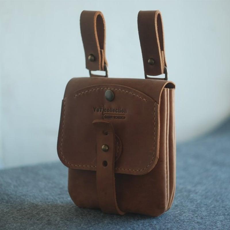 Мужская сумка Hit-pack brown leather