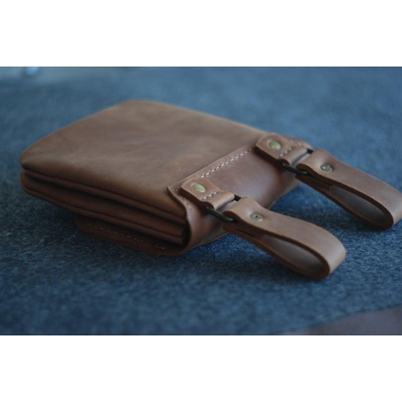 Чоловіча сумка Hit-pack brown leather