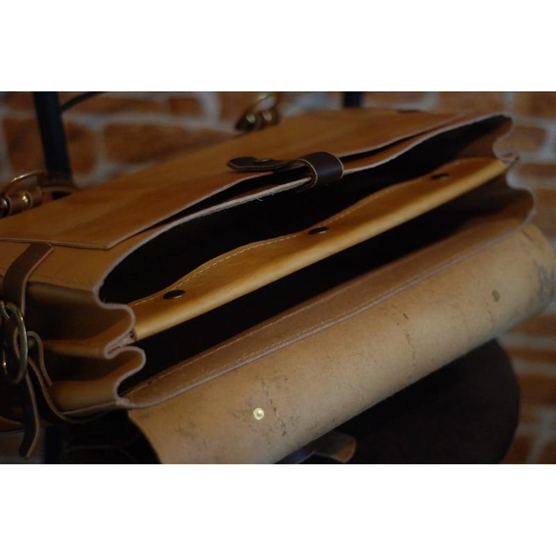 Чоловіча сумка через плече Briefcase brown leather