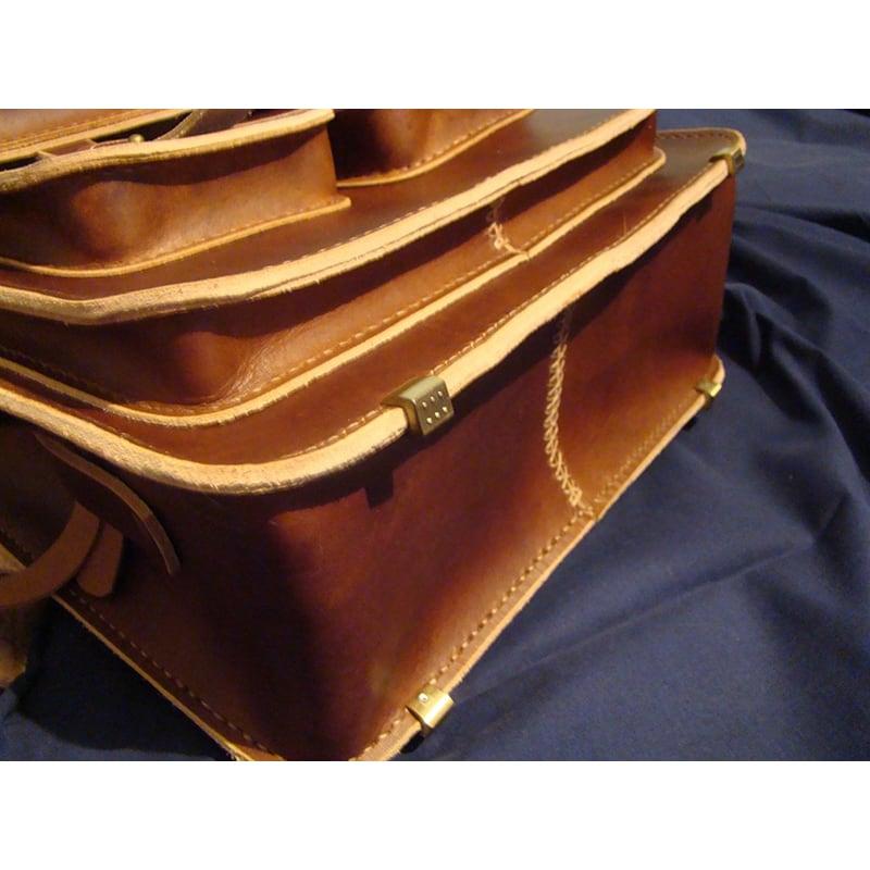 Сумка мужская кожаная Backpack brown leather