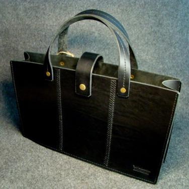 Сумка чоловіча шкіряна Satchel black leather