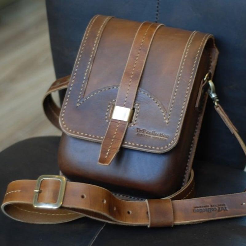 Сумка чоловіча шкіряна Тablet brown leather