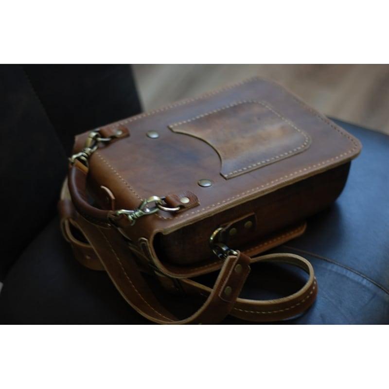 Сумка мужская кожаная Тablet brown leather