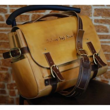 Мужская сумка через плечо Briefcase brown leather