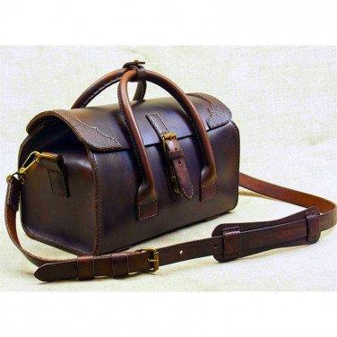 Мужская кожаная сумка Сarpet Вag brown leather