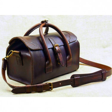 Чоловіча шкіряна сумка Сarpet Bag brown leather