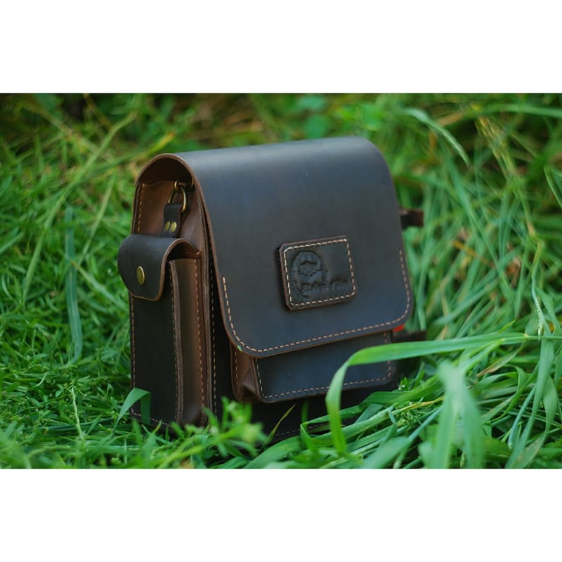Чоловіча сумка Messenger bag black leather