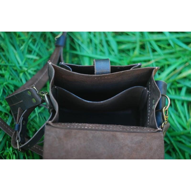 Чоловіча сумка Messenger bag black leather