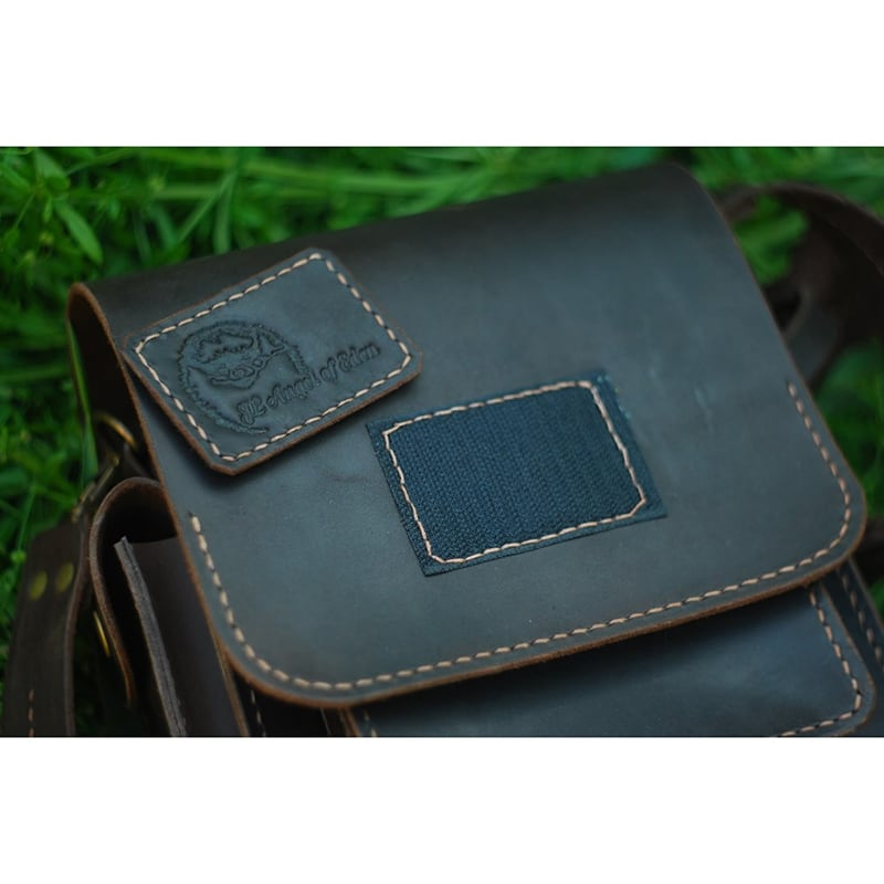 Мужская сумка Messenger bag black leather