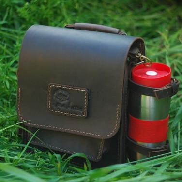 Мужская сумка Messenger bag black leather