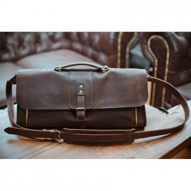 Сумка для інструментів чоловіча шкіряна Surplus bag brown leather