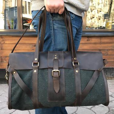Сумка мужская Duffle bag brown leather