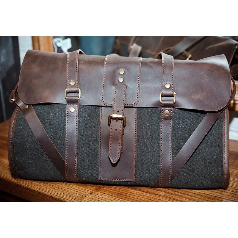 Сумка чоловіча Duffle bag brown leather
