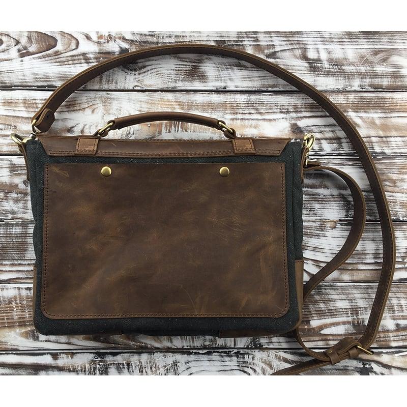 Сумка чоловіча шкіряна Satchel bag brown leather