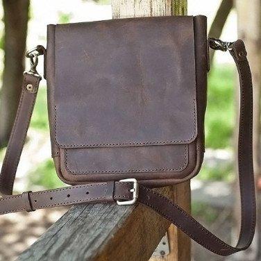 Сумка мужская Crossbogy bag brown leather