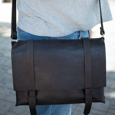 Сумка мужская через плечо Сrossbody bag black leather