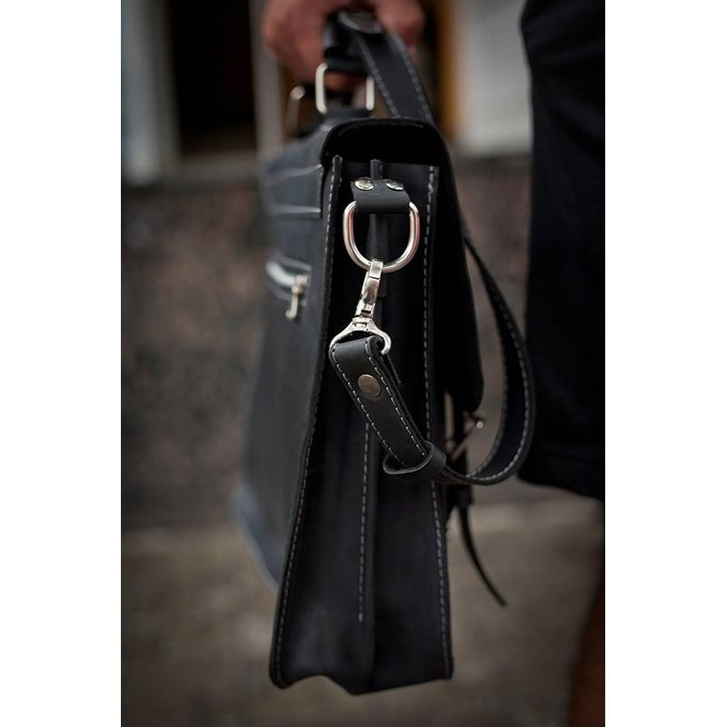 Сумка мужская Satchel bag black leather