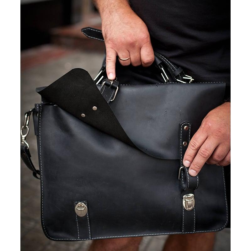 Сумка чоловіча Satchel bag black leather