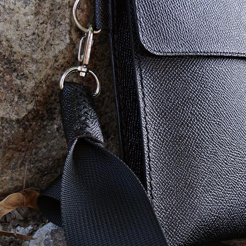 Мужская сумка Crossbogy bag black leather