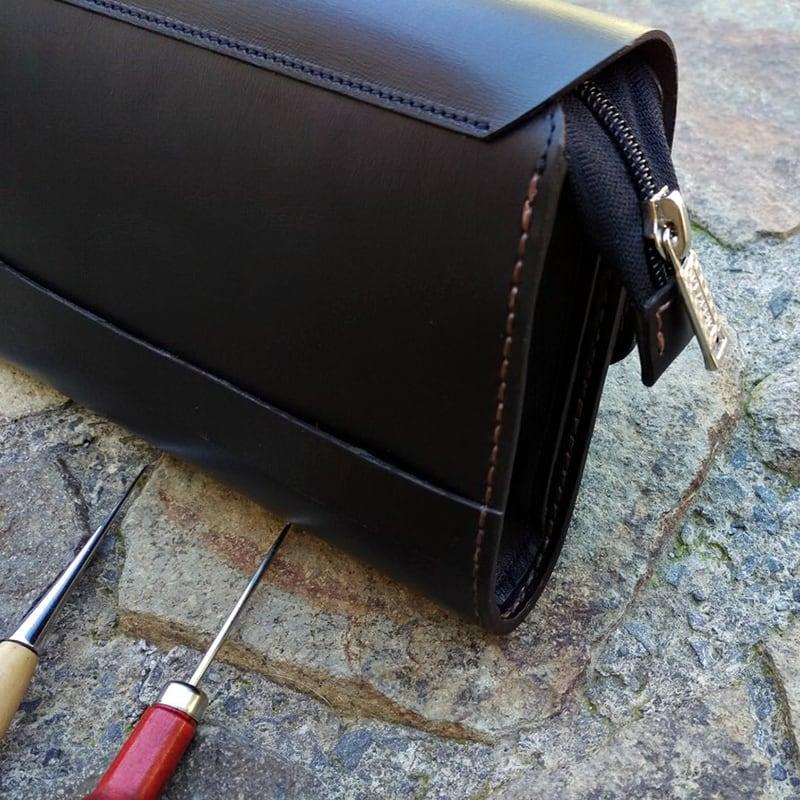 Шкіряна барсетка Purse black leather