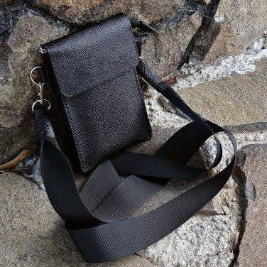 Чоловіча сумка Crossbogy bag black leather