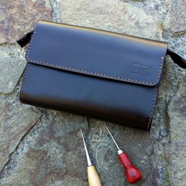Кожаная барсетка Purse black leather