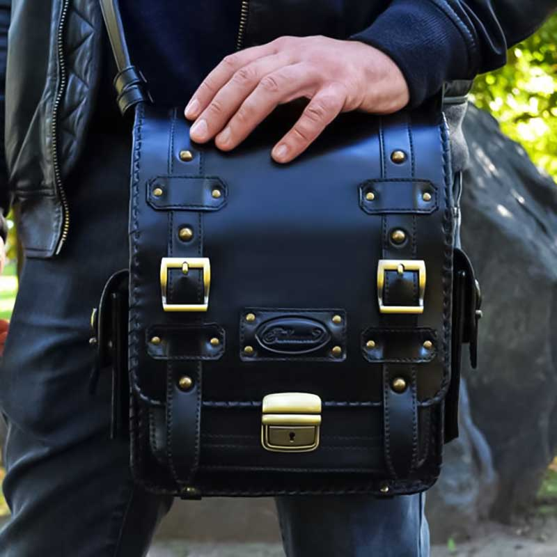 Сумка чоловіча Messenger bag Casual black leather