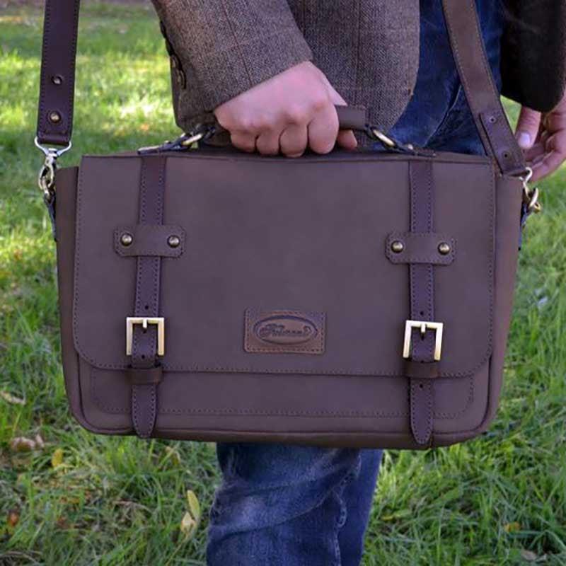 Мужская сумка Messenger bag Royal brown leather