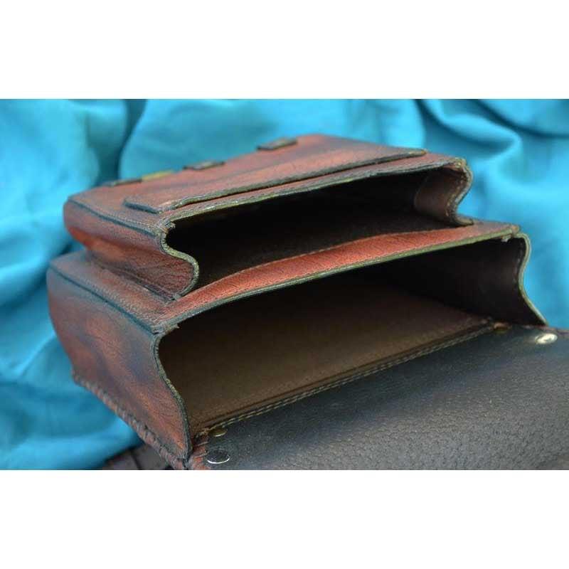 Сумка чоловіча Saddle Bag Dragon Feng Shui brown leather