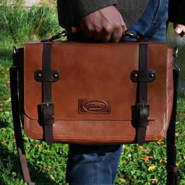 Мужская сумка Messenger bag Chief brown leather
