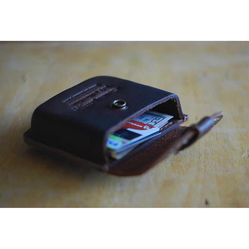 Кожаный портсигар-кошелек Polo brown leather