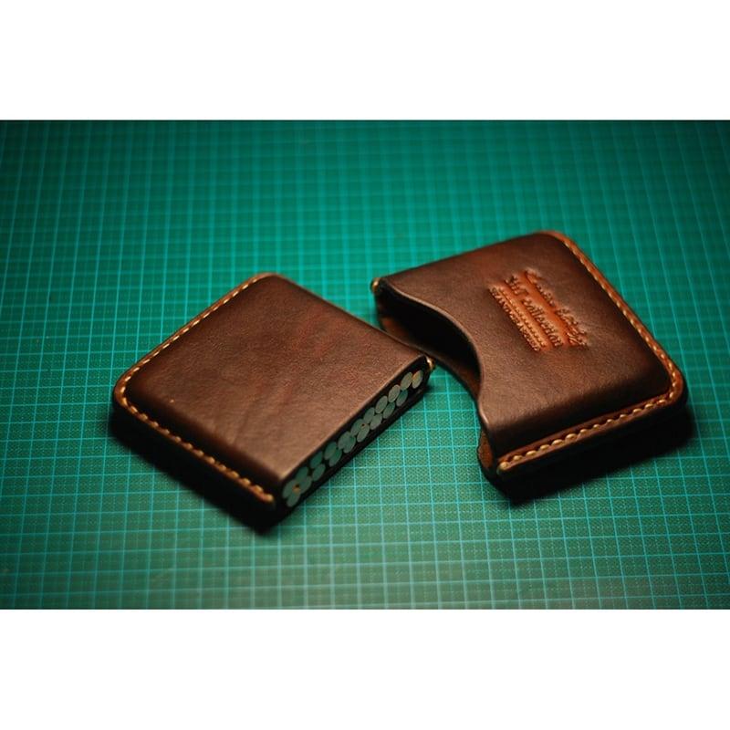 Кожаный портсигар Smart brown leather