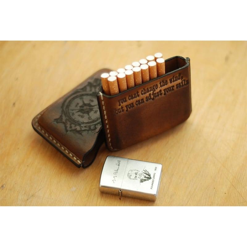 Шкіряний портсигар Windrose brown leather