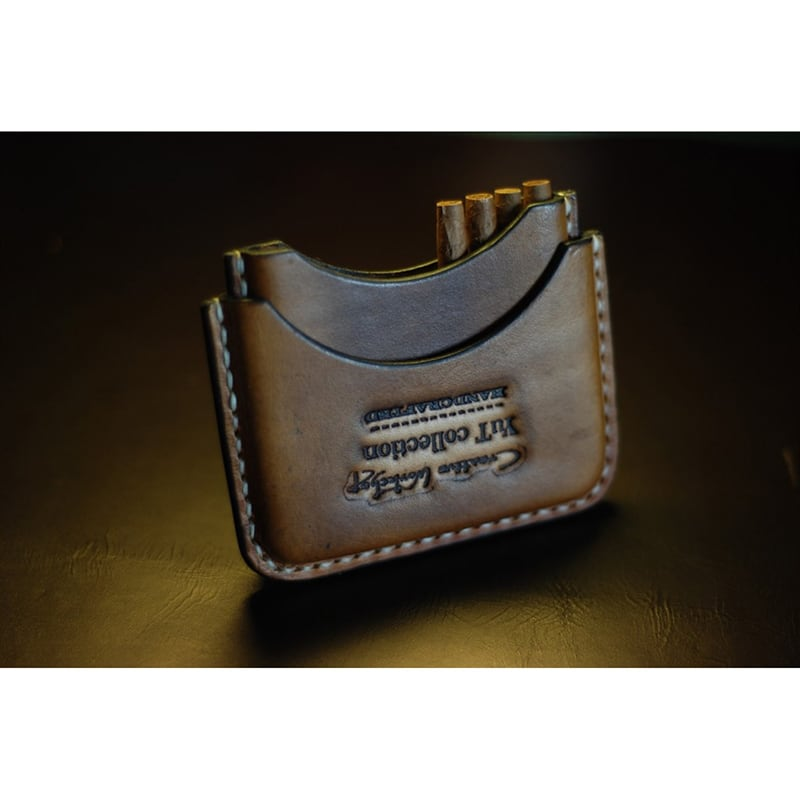 Кожаный портсигар Cafe Creme brown leather