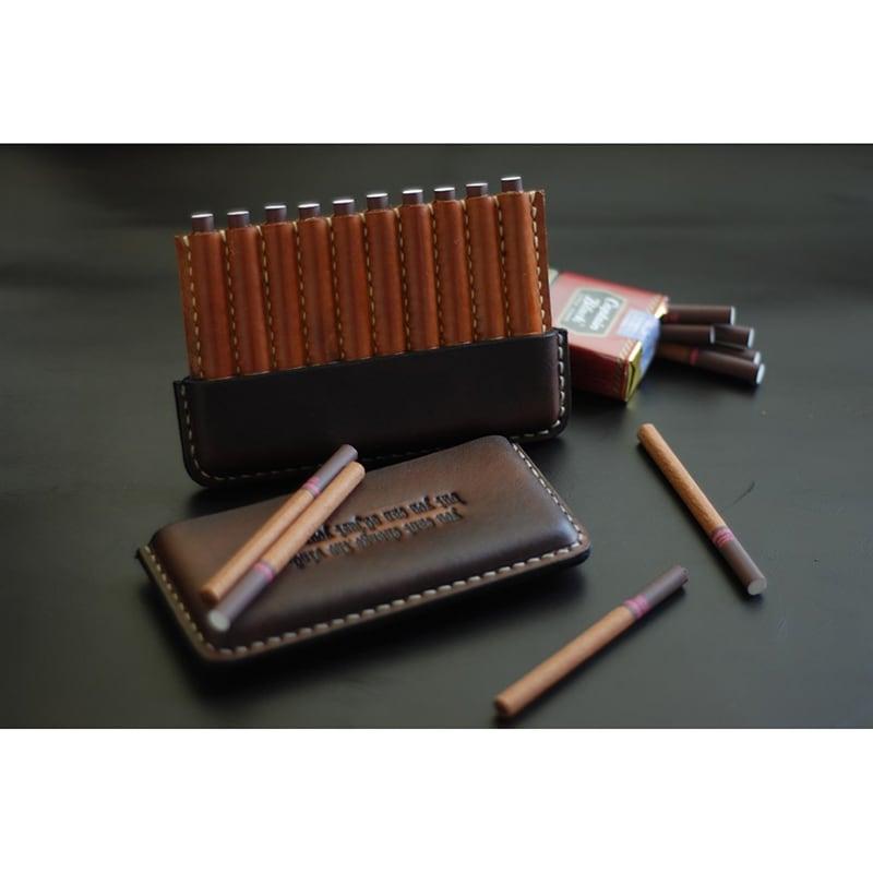 Кожаный портсигар Captain Drake brown leather
