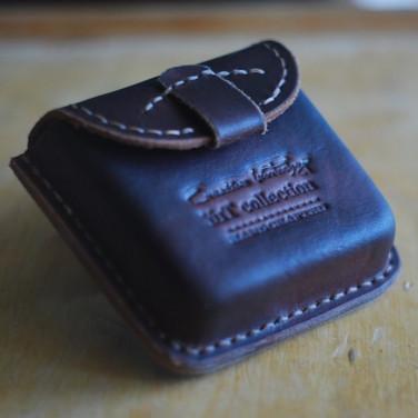 Шкіряний портсигар-гаманець Polo brown leather