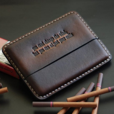 Шкіряний портсигар Captain Drake brown leather