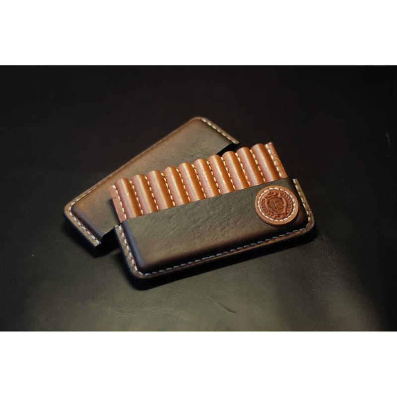 Кожаный портсигар Nominal brown leather