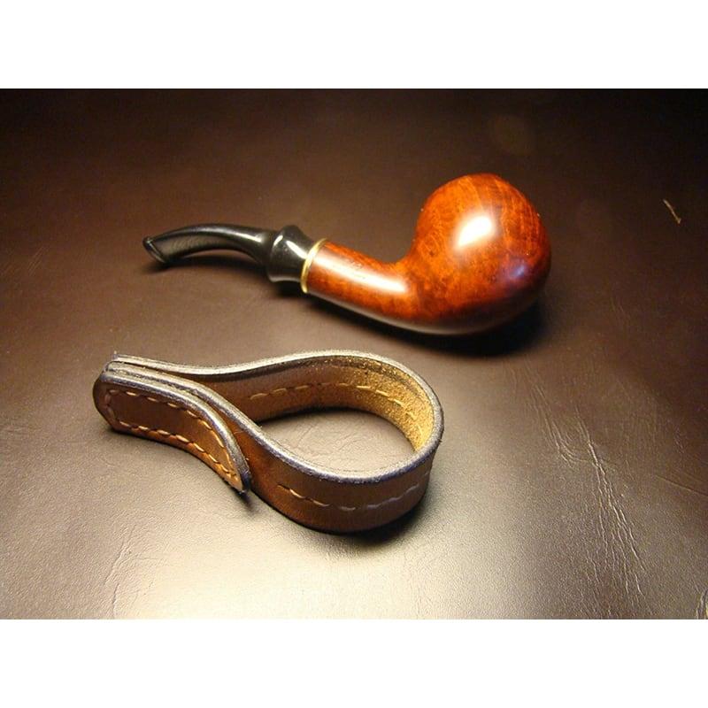 Кожаная подставка под трубку Tobacco brown leather