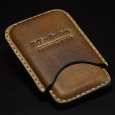 Кожаный портсигар-картхолдер Casablanca brown leather